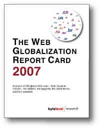 Web Globalization Report Card 2007