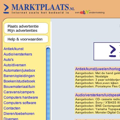 ... Founded in 1999, Marktplaats.nl averages roughly a million listings