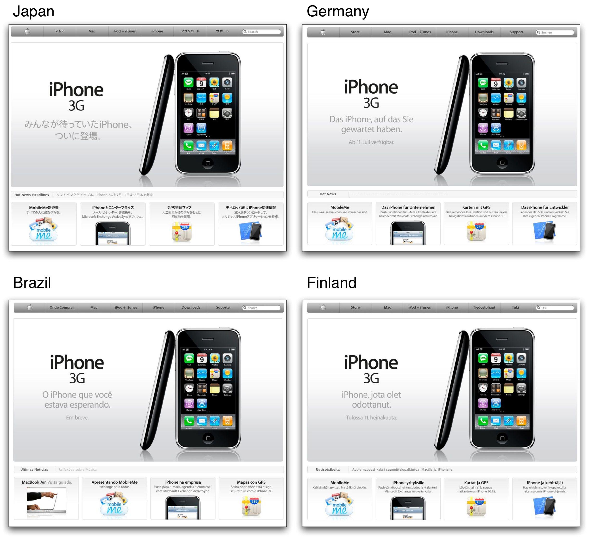 Apple global design template