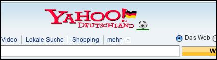 Yahoo! Germany header for Euro 2008