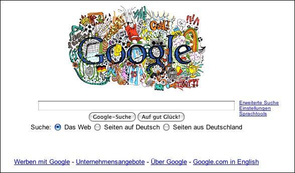 by simply entering google de  You need to use a German-based IP proxy