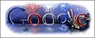 Google 4th of July logo