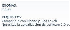 iPhone app Ingles