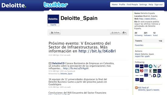 Deloitte Spain Twitter
