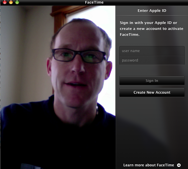 how to create facetime account on ipad