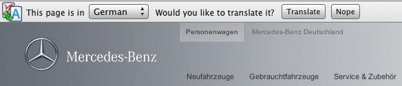 Mercedes Google Translate
