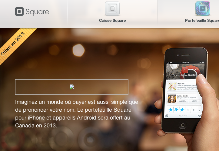 Square French Canada home page