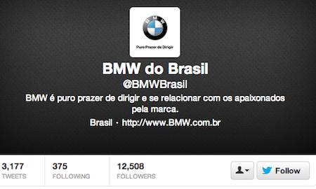 BMW Twitter Brazil