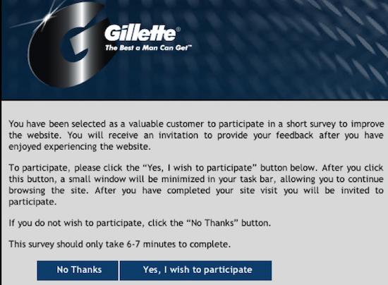 Gillette survey