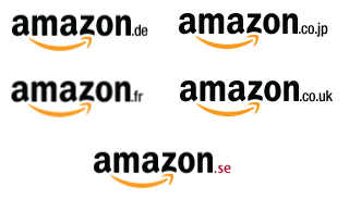 amazon logos and country codes