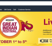 Are you celebrating India's festival season? Amazon sure is