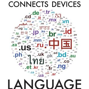 The Internet Connects Devices; Language Connects People poster