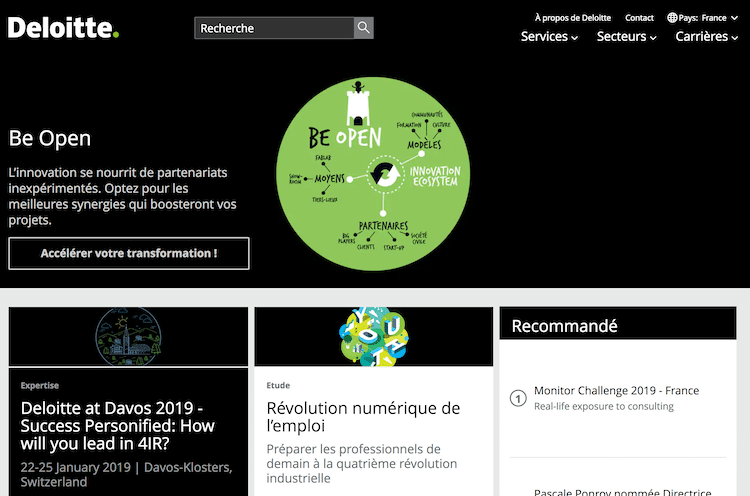 Deloitte: The best professional services website of 2019 – Global by Design