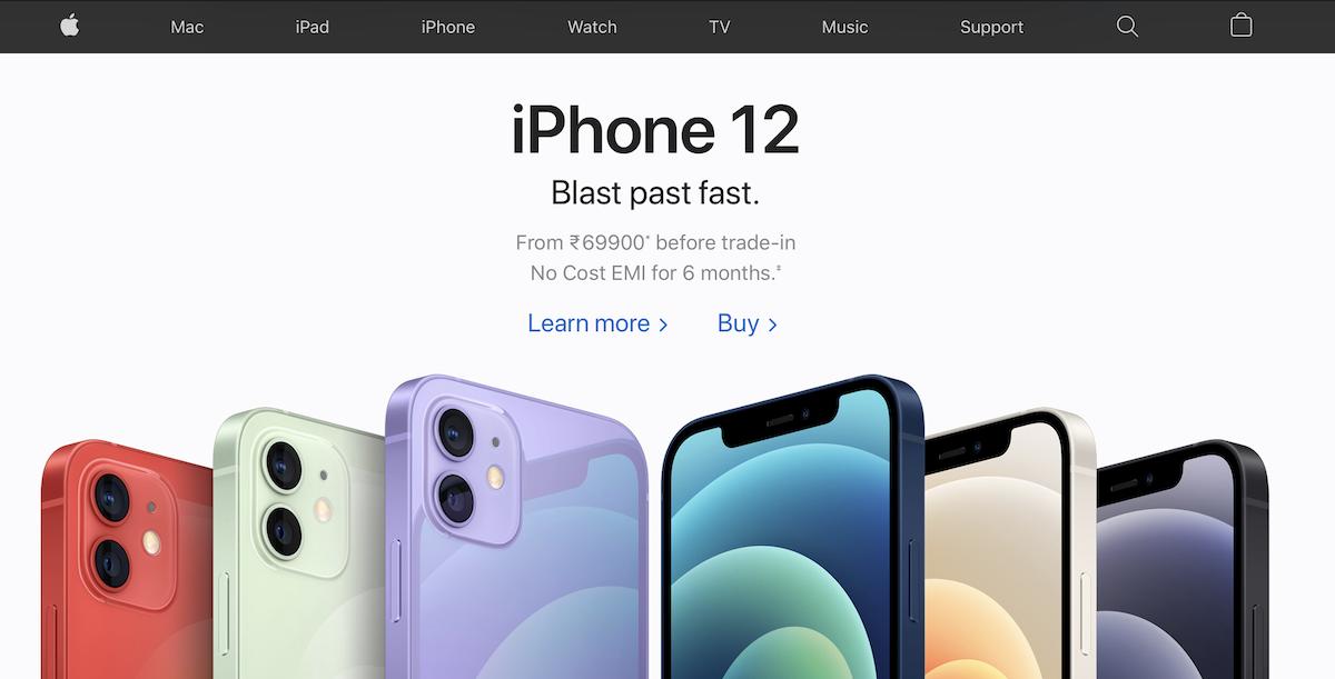 Apple India website